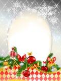 装饰的背景美好的圣诞节 免版税库存照片