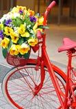 装饰的自行车 图库摄影