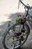 装饰的自行车 免版税库存图片