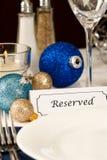 装饰的节假日表设置 免版税库存图片