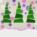 装饰的蓝色圣诞树。EPS 8 免版税图库摄影
