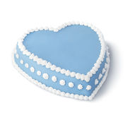 装饰的蓝色蛋糕 库存照片