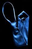 装饰的蓝色领带 库存照片