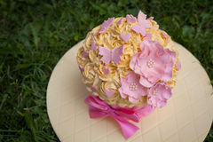 装饰的蛋糕 图库摄影
