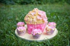 装饰的蛋糕 免版税库存照片