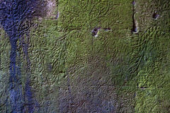 装饰的被破坏的墙壁 库存照片