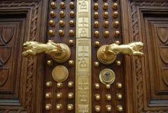 装饰的详细资料门富有 免版税库存图片