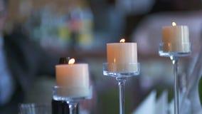 装饰的重点珍珠瓣玫瑰浅表婚礼 有花的结婚宴会地点 影视素材
