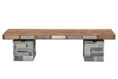 装饰的长凳 免版税库存照片