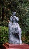 装饰的雕象在公园 库存照片