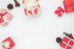 装饰的顶上的射击&装饰品圣诞快乐&新年好概念 库存图片
