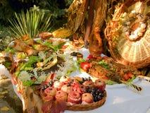 装饰的食物国民表 库存图片