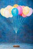 装饰的Colorfull baloons 免版税库存照片