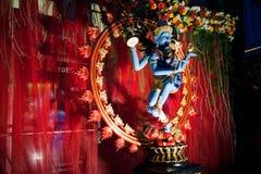 装饰的shiva雕象 图库摄影