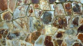 装饰石墙褐色白色灰色 免版税库存图片