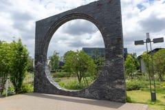 装饰石头砖建造曲拱的结构 图库摄影