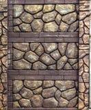 装饰石头篱芭  库存图片