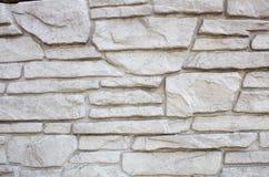 装饰石头篱芭  图库摄影