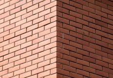 装饰砖墙的角落 免版税库存照片