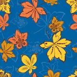 装饰秋叶的样式 免版税图库摄影