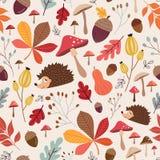 装饰秋季无缝的样式 免版税库存照片