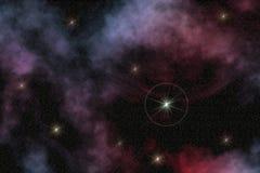 装饰空间星形 图库摄影