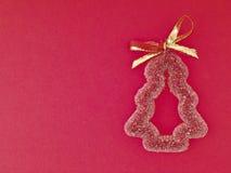 装饰红色圣诞树 图库摄影