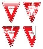 装饰红色退让信号 免版税库存图片