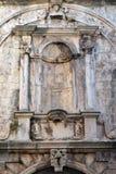 装饰细节在新生年龄建造的房子的在Korcula老镇,克罗地亚 库存图片