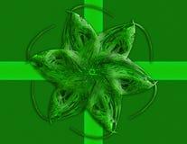 装饰绿色弓 免版税库存照片