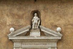 装饰罗马墙壁 库存图片