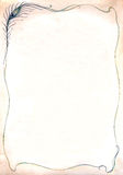 装饰羽毛框架孔雀 免版税图库摄影