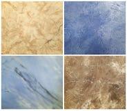 装饰膏药的汇集与大理石作用,艺术刷子纹理的 免版税库存照片
