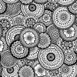 装饰自然装饰无缝的样式 Mehndi样式 向量例证