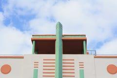 装饰艺术运动大厦在迈阿密,佛罗里达 库存图片