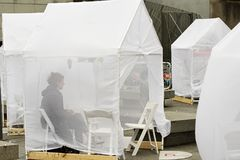 装饰节日,战利品, Barnardo广场,发光的帐篷,突然出现故事城市 精采地周道和有创造力的艺术, telli 免版税库存图片