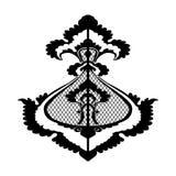 装饰花剪影样式被隔绝的背景 免版税库存照片