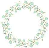 装饰花卉圈子 库存照片