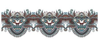 装饰花卉条纹样式,种族佩兹利设计 库存照片