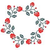 装饰花卉框架 免版税库存照片