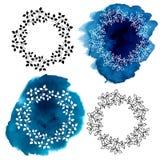 装饰花卉框架 图库摄影