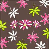 装饰花卉模式墙纸 图库摄影
