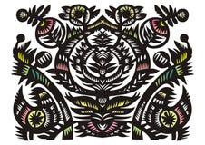 装饰花卉模式 免版税库存照片
