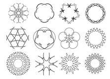 装饰花卉模式 库存照片