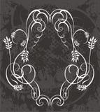 装饰花卉背景 皇族释放例证