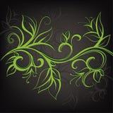 装饰花卉设计。传染媒介例证 免版税库存图片