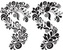 装饰花卉音乐主题 免版税库存图片