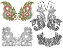 装饰花卉领口的汇集 免版税图库摄影