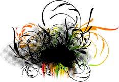 装饰花卉grunge 皇族释放例证