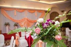 装饰花室内婚礼 库存照片